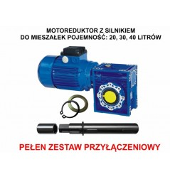 MOTOREDUKTOR Z SILNIKIEM DO MIESZAŁEK 20, 30, 40 LITRÓW - 230V