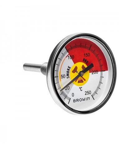 TERMOMETR DO WĘDZARNI BBQ - TARCZA 0 - 250°C