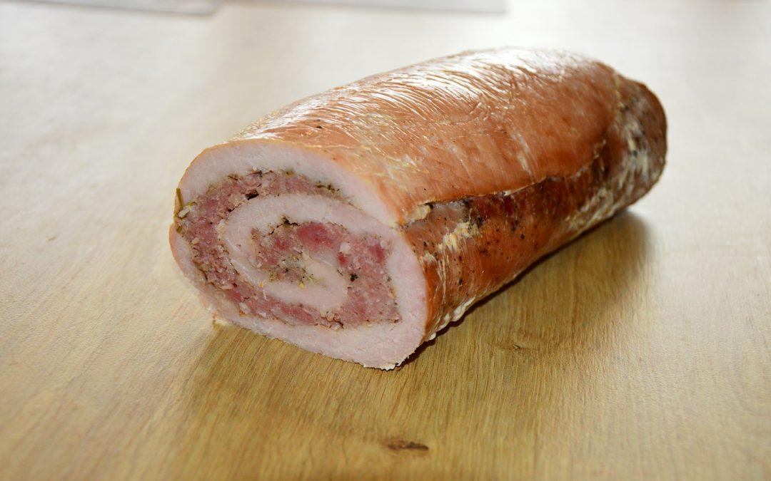 Schab faszerowany mięsem